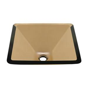 MR Direct Square Glass Vessel Sink,603-Taupe