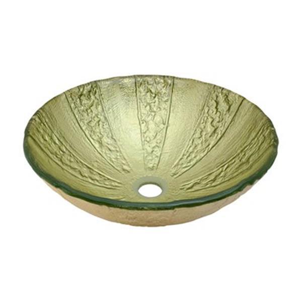 MR Direct Gold Foil Glass Vessel Bathroom Sink,623