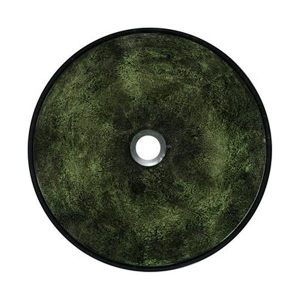 MR Direct Forest Green Glass Vessel Bathroom Sink,629