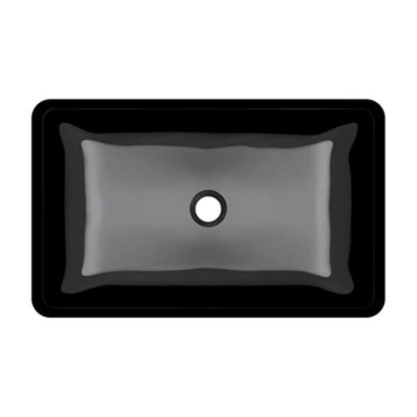 MR Direct Glass Vessel Bathroom Sink,640-Black