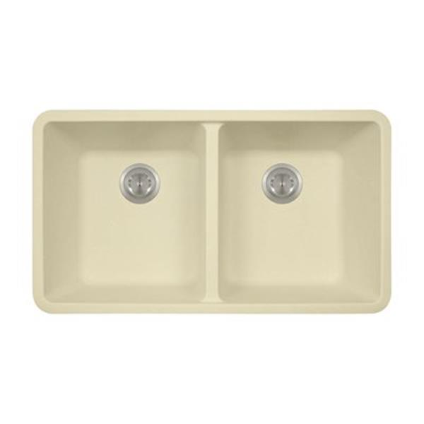 MR Direct TruGranite Double Equal Bowl Kitchen Sink,802-Beig