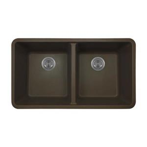 MR Direct TruGranite Double Equal Bowl Kitchen Sink,802-Moch