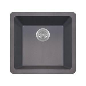 MR Direct TruGranite Single Bowl Kitchen Sink,805-Silver