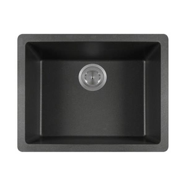 MR Direct Beige TruGranite Single Bowl Kitchen Sink,808-Blac