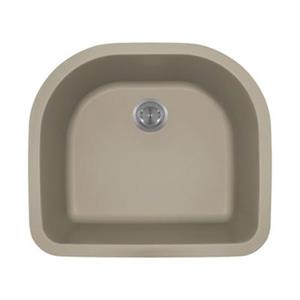 MR Direct TruGranite D-Bowl Kitchen Sink,824-Slate