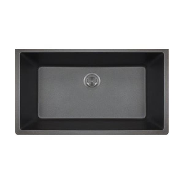 Mr Direct Trugranite Single Bowl Kitchen Sink 848 Black Rona