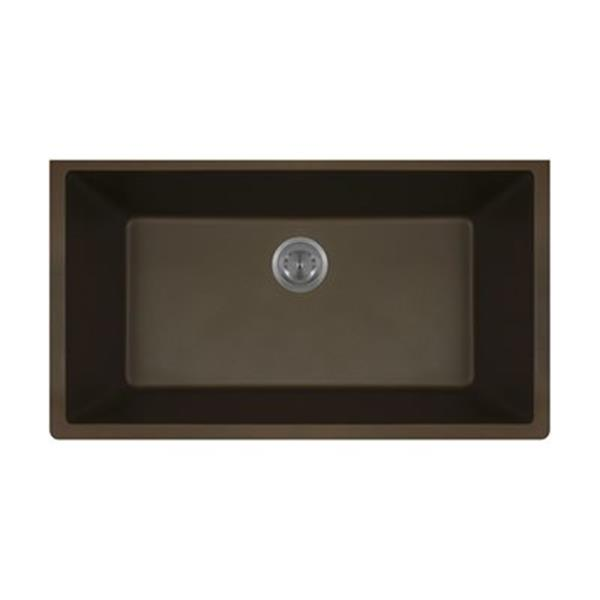 MR Direct TruGranite Single Bowl Kitchen Sink,848-Mocha