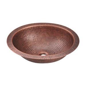 MR Direct Single Bowl Oval Copper Sink,909