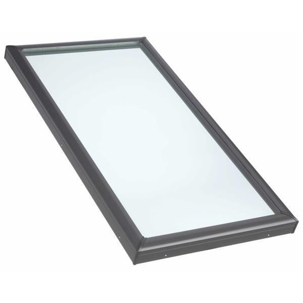 """Puits fixe Velux, monté sur cadre, verre trempé, 22,5""""x34,5"""""""