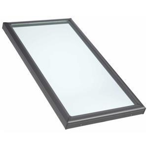 """Puits fixe Velux, monté sur cadre, verre trempé, 14,5""""x46,5"""""""