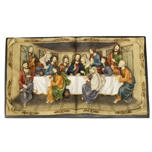 Hi-Line Gift 16-in Last Supper Wall Plaque,81838