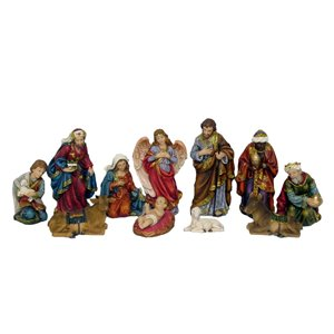 Hi-Line Gift 81859 8-in 11-Piece Nativity Set with Three Wis