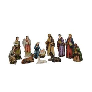 Hi-Line Gift 81891 5-in 11-Piece Nativity Set with Three Wis
