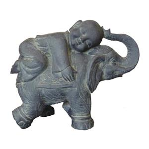Hi-Line Gift 76326 Buddha Child on Elephant Garden Statue,76