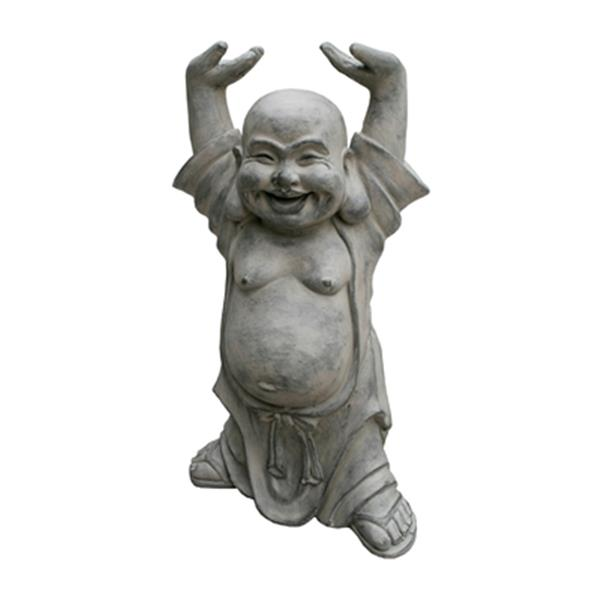 Hi-Line Gift 77074 Buddha with Hands Up Garden Statue,77074
