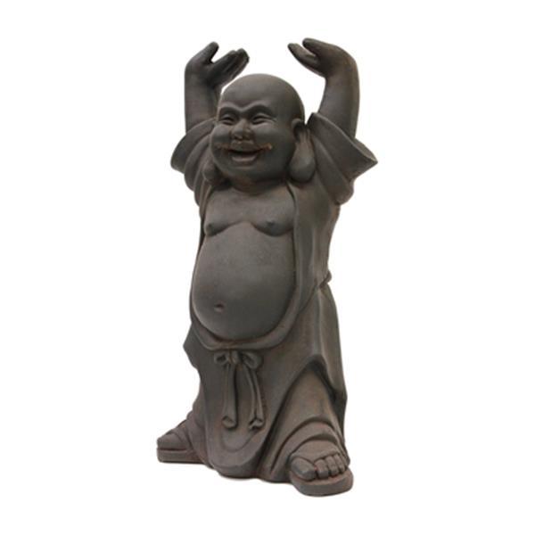 Hi-Line Gift 77074 Buddha with Hands Up Garden Statue,77074-