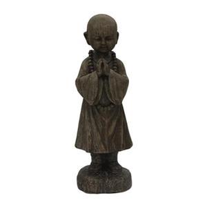 Hi-Line Gift 76337 Praying Buddha with Beads Garden Statue,7