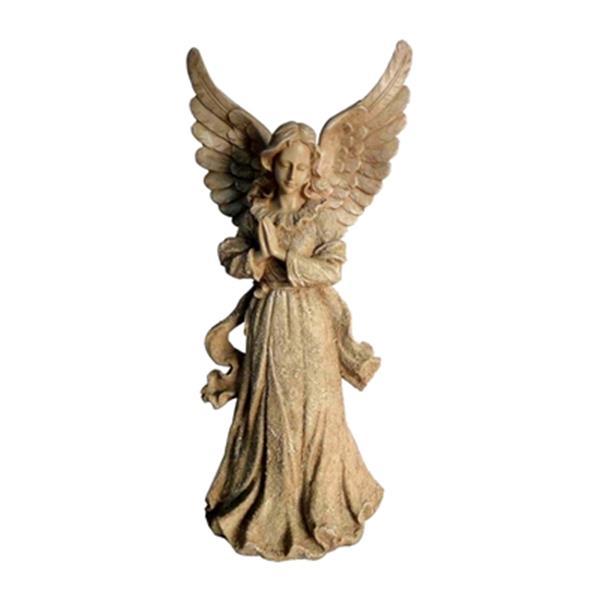 Hi-Line Gift 778 Standing Angel with Wings Up Garden Statue,