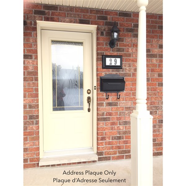 Classic Lighted Address Plaque, Black