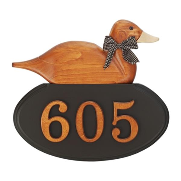 Plaque d'adresse campagnarde à motif de canard PRO-DF 1030AO5D