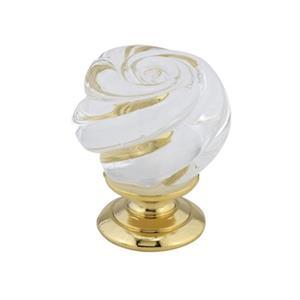 Richelieu BP90301 Traditional Metal and Murano Glass Knob,BP