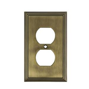 Richelieu Contemporary Duplex Switchplate,BP852AE