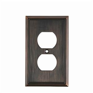 Richelieu Contemporary Duplex Switchplate,BP852BORB
