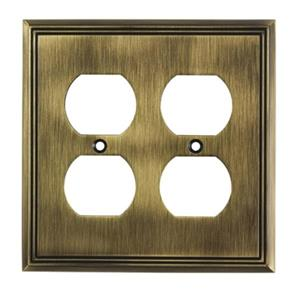Richelieu Contemporary Duplex Switchplate,BP8522AE