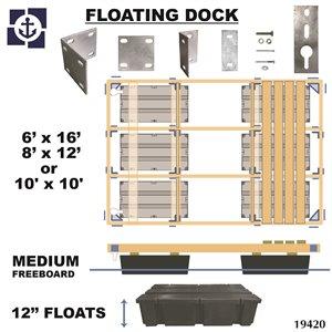 Quai flottant en bois pour franc-bord  Multinautic 19420