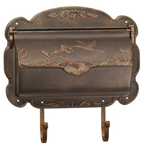 PRO-DF Hummingbird Antique Bronze Aluminum Mailbox,AL462BA