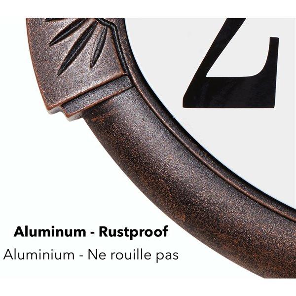 Plaque d'adresse classique en fonte d'aluminium, cuivre antique
