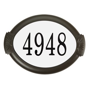 Classic Cast Aluminum Address Plaque, Mocha