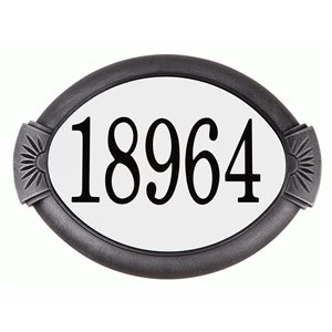 PRO-DF AL29706 Classic Swedish Silver Aluminum Address Plaqu