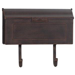 Classic Cast Aluminum Mailbox, Antique Copper