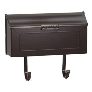 Classic Cast Aluminum Mailbox, Mocha