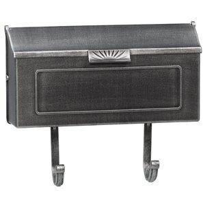 Classic Cast Aluminum Mailbox, Swedish Silver