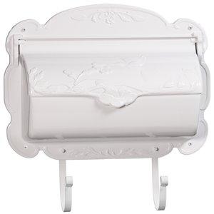 Hummingbird Cast Aluminum Mailbox, White