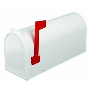 Economic Post Mount Curbside Mailbox, White