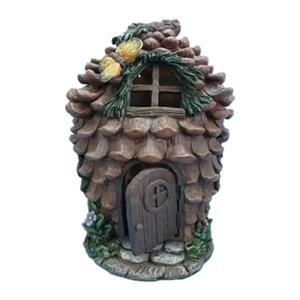 Hi-Line Gift Fairy Garden Pinecone House with Butterfly,7204