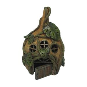 Hi-Line Gift Fairy Garden House with Three Windows and Vines