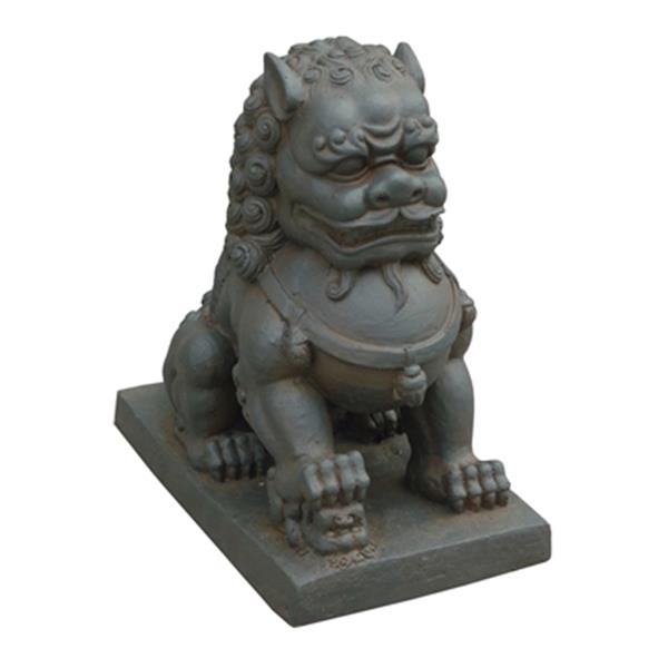 Hi-Line Gift Foo Dog with Right Paw on Cub,76334-A