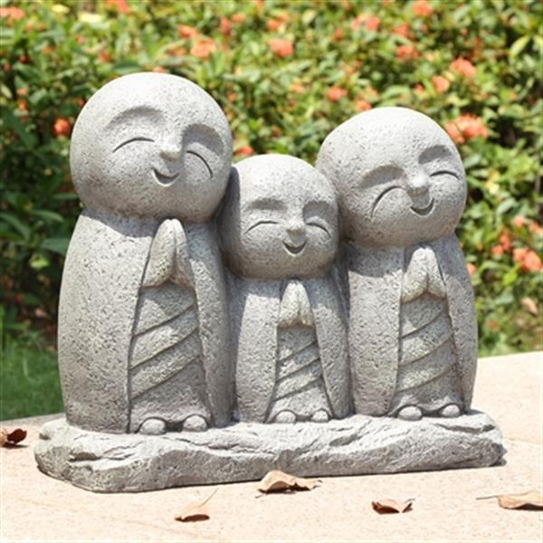 Hi-Line Gift Praying Lucky Japanese Jizo Family Statue,77124