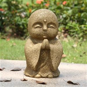 Hi-Line Gift Praying Lucky Japanese Jizo Statue,77125-BR
