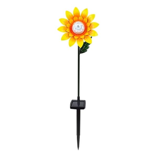 Hi-Line Gift Small Rotating Sunflower Stake with Solar LED,7
