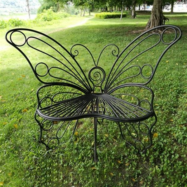 Hi-Line Gift Metal Butterfly Garden Chair,78617-BK