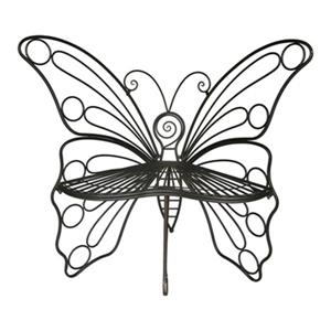 Hi-Line Gift Metal Butterfly Garden Chair,78617-BK