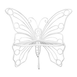 Hi-Line Gift Metal Butterfly Garden Chair,78617-WT