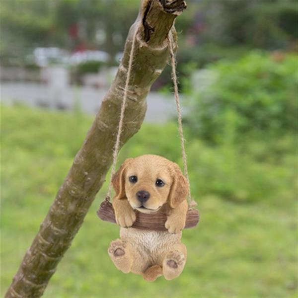 Hi-Line Gift Hanging Golden Retriever Puppy,87704-I