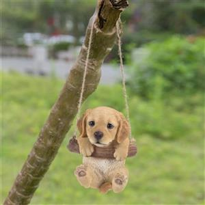 Hi-Line Gift Hanging Golden Retriever Puppy,87704-I