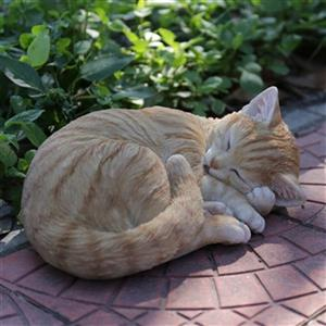 Hi-Line Gift Cat Lying and Sleeping Statue,87728-B